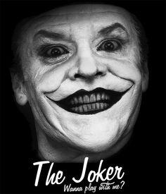 Camiseta Batman. The Joker. Wanna play with me?