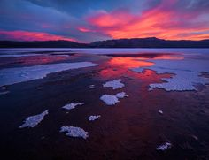 Day 339  The sky erupts over a remote salt flat in Death Valley