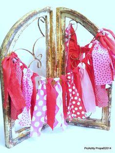 PINK POLKADOT Valentine's Day Valentine Rag Tie by PicAdillyProps, $26.00