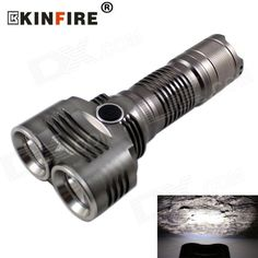 KINFIRE XM-L U2 Waterproof Outdoor LED Flashlight Cool White 5-Mode 1200lm (1 x 18650 / 26650). . Tags: #Lights #Lighting #Flashlights #LED #Flashlights #18650 #Flashlights