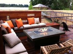 rectangle patio fire pit table - Google Search