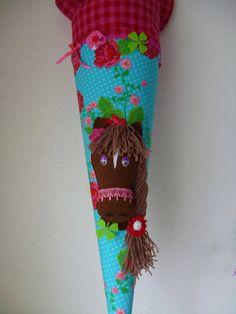 """Schultüten - Schultüte, Zuckertüte, """"Pferdchen"""" - ein Designerstück von Anastasiyas-Stoffmaerchen bei DaWanda"""