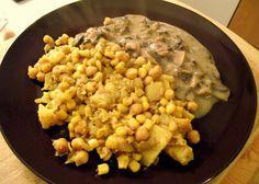 veganes Kichererbsen-Curry mit Champignon-Soße - vegane Rezepte auf Laubfresser