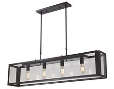 Progressive Lighting, Landmark Parameters 4Lt. Pendant, 63023-24