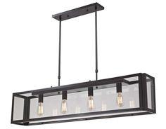 Progressive Lighting, Landmark Parameters 4Lt. Pendant, 63023-24