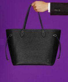 Iconic Louis Vuitton Neverfull Color Box In Epi Leather Color Box, One Color, Louis Vuitton Neverfull, Louis Vuitton Handbags, Purple Palette, Purple And Black, Michael Kors Jet Set, Tote Bag, Leather