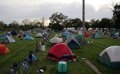 Tent City - Dunning during BRAN (Bike Ride Across Nebraska) 2008.  On Sandhills High School football field.  | Flickr - Photo Sharing!