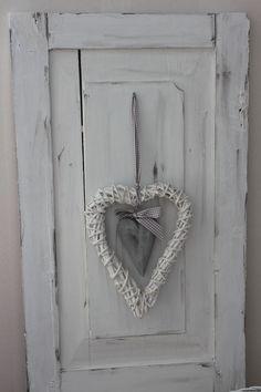 Vanha ovi, maalattu Jeanne d'Arc Livingin kalkkimaalilla + vaha