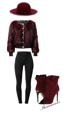 """Untitled #87"" by kisses4everrr on Polyvore featuring Warehouse, Balmain, Burberry and J Brand"
