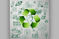 Recycle Symbol and Ecology icons by Netkoff on Creative Market
