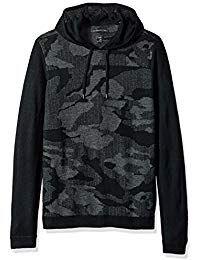 John Varvatos Black Cotton Modal Lightweight Hooded Shirt Sweatshirt Mens M//L