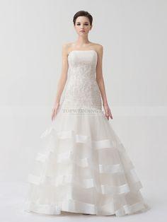 Aimee - sirena treno pennello abito da sposa in raso con a paillette