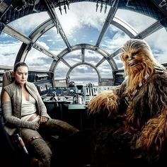 """132 Likes, 2 Comments - General Geekous (@scruffy.looking.nerf.herder) on Instagram: """"""""Look at me..look at me! I am the captain now."""" #starwars #thelastjedi #rey #chewbacca #daisyridley…"""""""