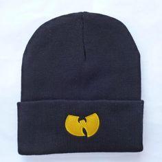fa121542f8c High Quality New Fashion Winter WU TANG CLAN Beanie Hats For Women Men  Unisex Acrylic Black