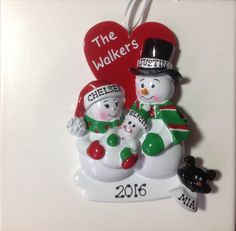 Personalized New Parents, Proud Parents, With two pets,Baby's First Christmas Ornament by SantasElvesWorkshop on Etsy
