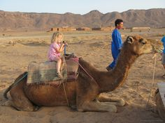 Riding Dromedary Camels in the Moroccan Desert