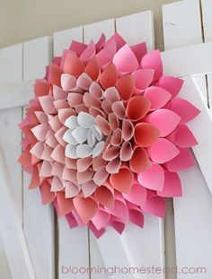 Diy Paper Dahlia Wreath - 10 Easy Paper DIYs to Soothe Your Crafting Needs