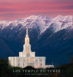 Payson Temple Timpanogos Pastel Sunset | LDS Temple Pics