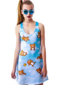 6b38eb5eddc Japan L.A. Rilakkuma Sky Dress Bear Costume