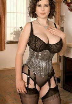 Beautiful.. big tits in corsets scene with