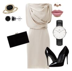 """semi formal dress for formal dinner"" by restinauli-suyanto on Polyvore featuring Jason Wu, Dolce&Gabbana, Charlotte Olympia, Blue Nile, BERRICLE and Daniel Wellington"