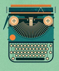 Typewriters - Maizle Illustration