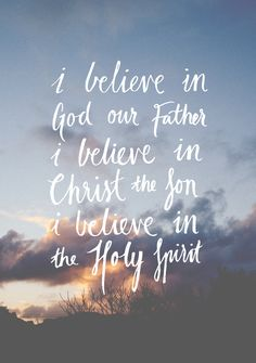 littlethingsaboutgod:  I believe in Trinity