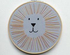 nursery lion embroidery – Etsy