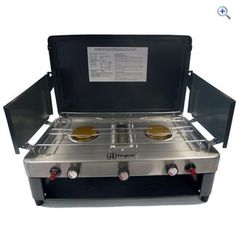 Hi Gear Double Burner Camping Stove with Grill | GO Outdoors