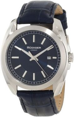 Rudiger Men's R1001-04-003L Dresden Blue Date Watch Rudiger. $98.00. Quartz movement: miyota pc32. Water-resistant to 50 M (165 feet). Luminous hands; second-hand feature. Blue leather band. Blue dial with date window. Save 72% Off!