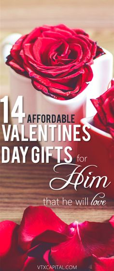 10 Creative (and Cheap) Valentine's Day Gifts for Him Check out these thoughtful Valentines Day Gift Ideas for him ♥