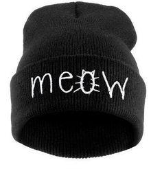 Osso chapéu Gorros MEOW Chapéus Hip-Hop Algodão das mulheres de inverno Malha Homens Mulheres Caps Casual Skullies Hop London Frete Grátis
