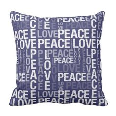 Peace Love Typography Throw Pillow. >>> See more by going to the picture link
