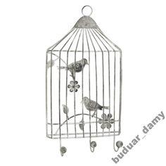 WIESZAK POTRÓJNY NA ŚCIANĘ Klatka z Ptakami