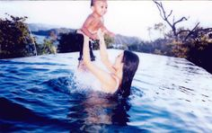 Welcome to Oghenemaga Otewu's Blog: Kim Kardashian shares adorable photos of her swimm...