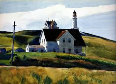 "Edward Hopper ""Hill and Houses, Cape Elizabeth, Maine"" , 1927"
