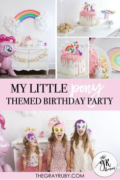 My little pony birthday party ideas for little girls. Sharing all the details of Hazel's My Little Pony Birthday. My little pony cake. My little pony decorations Little Pony Cake, My Little Pony Birthday Party, First Birthday Parties, Birthday Party Themes, 3rd Birthday, Birthday Ideas, My Little Pony Decorations, Before Wedding, Balloon Decorations