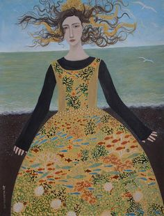 dee-nickerson-sea-maiden-1-painting-2014-42x30cm