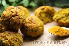 Turmeric & Sweet Potato Falafel Bakes – vegan, gluten-free – Trinity's Conscious Kitchen