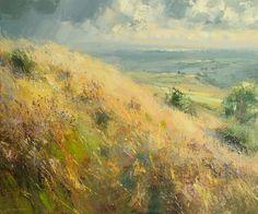 Hillside Grasses in September by Rex Preston