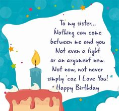Birthday to My Sister Quotes Best Of Birthday Quotes for Sister My Board Happy Birthday to My Sister Quotes Best Of Birthday Quotes for Sister My Board.Happy Birthday to My Sister Quotes Best Of Birthday Quotes for Sister My Board. Sister Birthday Quotes Funny, Birthday Messages For Sister, Happy Birthday Wishes Sister, Message For Sister, Birthday Wishes Messages, Sister Messages, Birthday Greetings, Funny Birthday, Inspirational Birthday Message