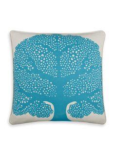 love this turquoise tree pillow! thomas paul