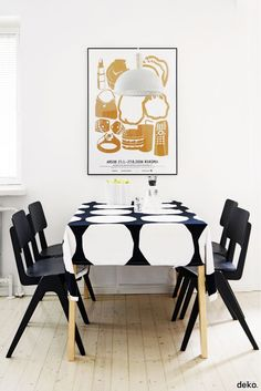 black and white dining room #interiordesign