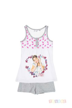 Pyjama Fille Violetta gris chiné | #Toluki http://www.toluki.com/prod.php?id=523 #violetta