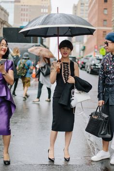 Estilo de la calle New York Fashion Week.
