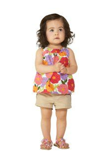 Your baby girl is a springtime sensation in our bright floral swing top and cargo pocket shorts. Mini bloom sandals finish the too-cute look.