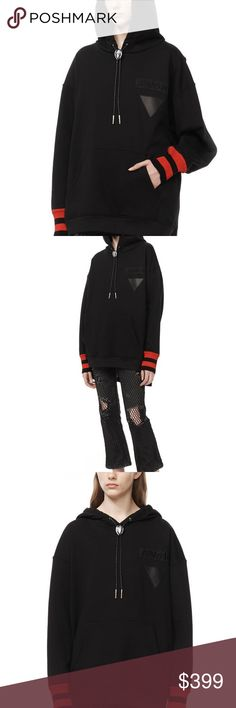 """Authentic Brand New OVERSIZED HOODIE Sweater Authentic Brand New OVERSIZED HOODIE WITH DOUBLE LAYER MESH BACK  OVERSIZED HOODIE IN CLASSIC FLEECE JERSEY WITH DOUBLE LAYER MESH BACK. MULTIPLE PATCHES AND EMBELLISHMENTS TO ADD REFERENCES TO SPORTSWEAR, CALIFORNIA, AND THE SEASON'S MOTIFS. EXTRA WIDE RIB CUFFS WITH CONTRASTING RED STRIPES AND BOLO TIE DETAIL 100% COTTON THIS ITEM RUNS TRUE TO SIZE WITH AN OVERSIZED FIT. MEASURES: 32"""" (81 CM) LONG MADE IN PORTUGAL. Alexander Wang Sweaters"""