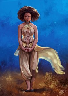 """""""missandei"""" - The little scribe with the big golden eyes was wise beyond her years. She is brave as well. She had to be to survive the life she's lived."""