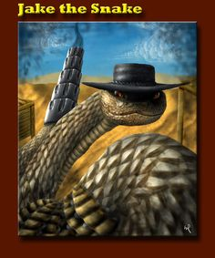 From the film, Rango, Jake the Snake is the ultimate western badass with a code. Cobra Tattoo, Demon Art, The Draw, Painting & Drawing, Madness, Pop Culture, Snake, Characters, Paintings
