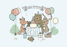 Birthday Card Forest Theme by ~pronouncedyou on deviantART